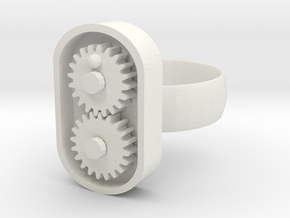 Gear/ring in White Natural Versatile Plastic