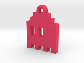 Pac Man Ghost 8-bit Earring 1 (looks L/R | moving) in Pink Strong & Flexible Polished