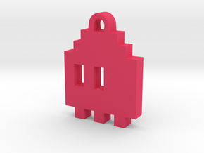 Pac Man Ghost 8-bit Earring 1 (looks L/R) in Pink Strong & Flexible Polished