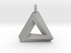 Penrose Triangle - Pendant (3.5cm | 3.5mm O-Ring) in Aluminum