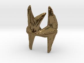 Starfish napkin holder in Polished Bronze