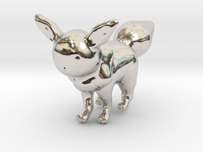 Eevee in Rhodium Plated Brass