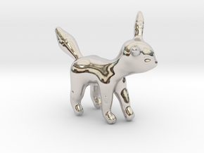 Umbreon in Rhodium Plated Brass