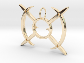 Arceus Pendent  in 14k Gold Plated Brass