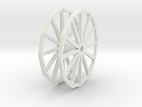 Little Eli Wheel Wheel 2 in White Strong & Flexible