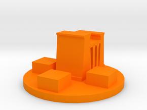 Game Piece, Ancient Egyptian City Token in Orange Processed Versatile Plastic