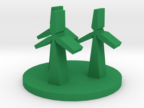 Game Piece, Wind Farm in Green Processed Versatile Plastic