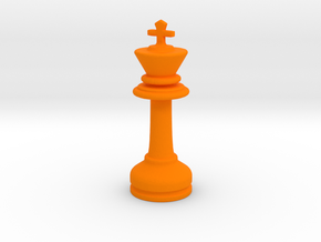 MILOSAURUS Chess MINI Staunton King in Orange Strong & Flexible Polished
