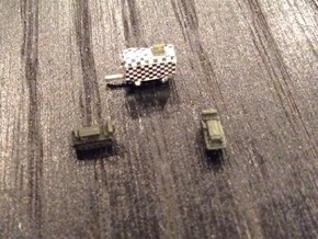 1:700 Scale M2 Cletrac Tractors + Airfield Control in Smoothest Fine Detail Plastic
