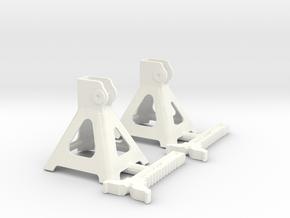1/8 Jack Stand Pair in White Processed Versatile Plastic