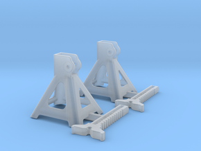 1/18 Jack Stand Pair in Smooth Fine Detail Plastic