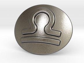 Libra Belt Buckle in Polished Nickel Steel
