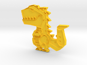 t rex in Yellow Processed Versatile Plastic