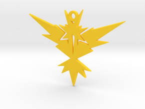 POKEMON Team Instinct (Yellow) Pendant  in Yellow Processed Versatile Plastic