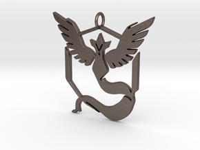 Pokemon GO: Team Mystic Pendant in Polished Bronzed Silver Steel
