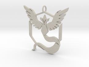 Pokemon GO: Team Mystic Pendant in Natural Sandstone