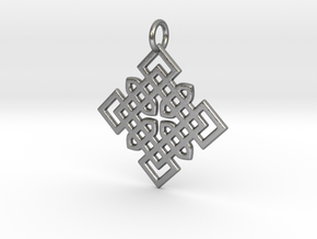 Celtic Cross Pattern Pendant in Natural Silver
