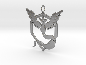 Team Mystic Pendant - Pokemon Go - Articuno in Natural Silver