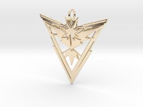 Team Instinct Pendant - Pokemon Go - Zapdos in 14K Yellow Gold