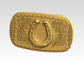 Boucle Ceinture-Belt Buckle Uncharted in Raw Brass