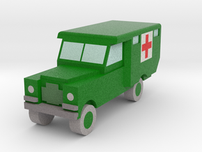 1/152 Land Rover S2 Ambulance x1 - Army, Green in Full Color Sandstone