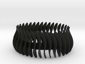 Duo-armband-helft / Duo bracelet halve in Black Natural Versatile Plastic: Medium