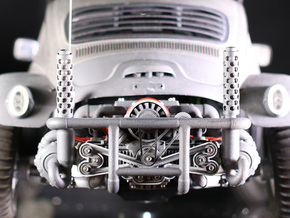 Sand Scorcher Flat Six Air-cooled Engine Block in White Strong & Flexible Polished