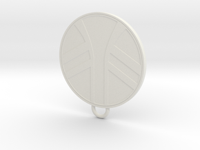 UKCM Keychain in White Natural Versatile Plastic