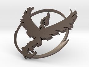 PokemonGo Team Valor Car Badge Emblem in Polished Bronzed Silver Steel