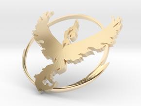 PokemonGo Team Valor Car Badge Emblem in 14k Gold Plated Brass