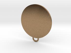 Tyrell Fan Keychain in Natural Brass