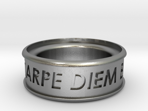 Carpe Diem Ring 5 Inch Diameter in Natural Silver