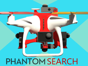 Search & Rescue 360° video harness for DJI Phantom in White Natural Versatile Plastic