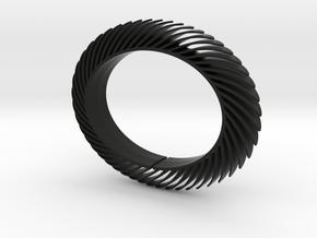 Blaadjesarmband-smal in Black Natural Versatile Plastic: Medium