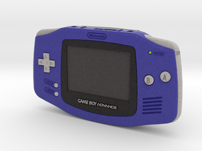 1:6 Nintendo Game Boy Advance (Indigo) in Full Color Sandstone