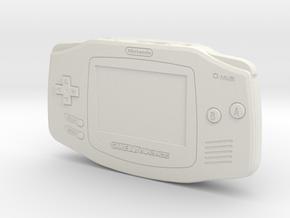 1:6 Nintendo Game Boy Advance (Black) in White Natural Versatile Plastic