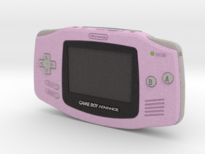 1:6 Nintendo Game Boy Advance (Fuschia) in Full Color Sandstone