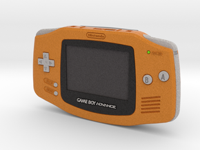 1:6 Nintendo Game Boy Advance (Orange) in Full Color Sandstone