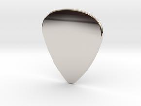 Blank Pick 1.5mm in Rhodium Plated Brass