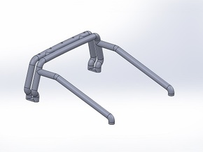 Bigfoot 6 Roll-bar in White Strong & Flexible Polished