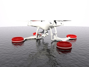 Triskel - SAR Floating System for DJI Phantom 4 in White Natural Versatile Plastic