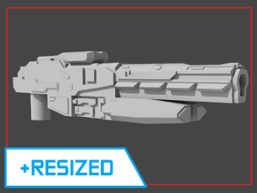 """""""Sentinel"""" Rifle RESIZED 5mm post in White Strong & Flexible"""