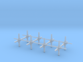 1/15 scale WWII hedgehog anti-tank obstacles x 8 in Smooth Fine Detail Plastic