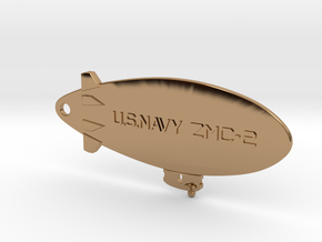 ZMC-2 Navy Blimp Keyfob in Polished Brass