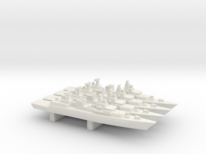Brandenburg-class FFG x 4, 1/3000 in White Natural Versatile Plastic