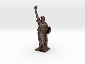 Statue Of Liberty in Polished Bronze Steel
