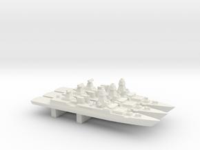 Sachsen-class frigate x 3, 1/3000 in White Natural Versatile Plastic