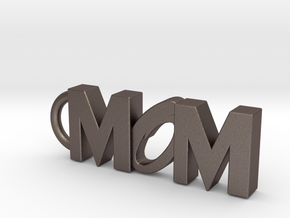 Mom Keychain Tag in Stainless Steel