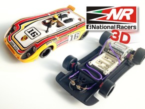 3D chassis - Fly Porsche 908 Flunder/Flunder LH (S in Black Strong & Flexible