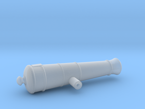 1:24 12-pounder Short cannon in Smooth Fine Detail Plastic